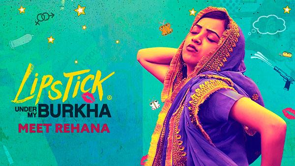 Affiche du film indien Lipstick under my Burkha de Alankrita Shrivastava projeté au cinéma les 400 coups pendant le Festival Influences Indiennes à Beaucouzé