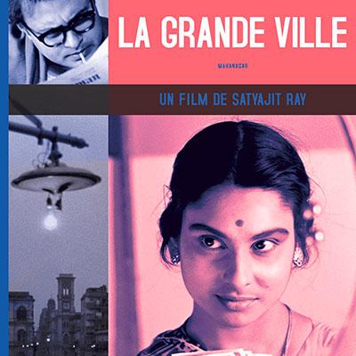Affiche du film indien réalisé par Satyajit Ray La Grande ville de